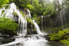 view of Panther Creek Falls 500px / 180 degrees of Water by Bill Ratcliffe