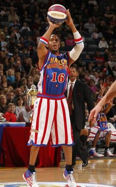You can't play like #16 Scooter without his official Harlem Globetrotters jersey.  Get it here!