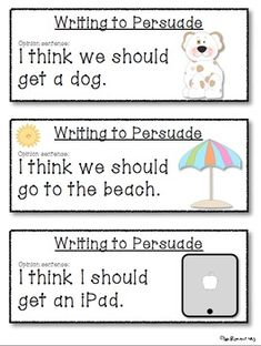 persuasive writing prompts for 2nd grade Through a classroom game and resource handouts, students learn about the techniques used in persuasive oral arguments and apply them to independent persuasive writing.