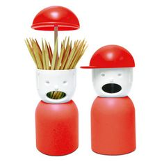 So cute and clever: Picky Boy Toothpick Holder Red now featured on Fab.
