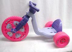 "Vintage Original Princess Big Wheel 16"" Tricycle Purple Pink Plastic Ride-On #BigWheel"