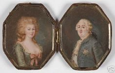 portraits of MA and Louis XVI
