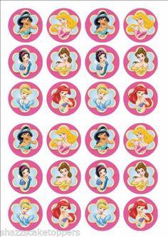 Edible Cake Topper Disney Princess x 24 | eBay