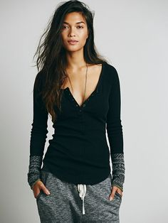 Gorgeous thermal top with woollen cuffs.