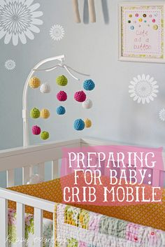 Crocheted Crib Mobile by ohsohappytogether, via Flickr