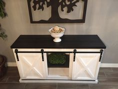 Sliding X Door Console | Do It Yourself Home Projects from Ana White