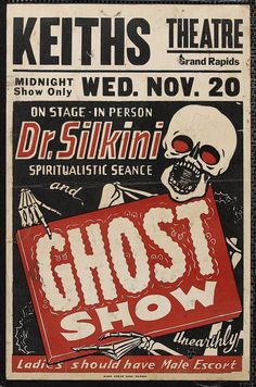 Dr. Silkini Ghost Show Poster #typehunter