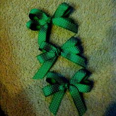 Bows made for our Girl Scout Cookie Rally!
