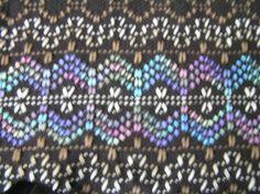Black Swedish Weaving Blanket. Love the colors!