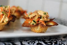Asian Chicken Salad in Wonton Cups ...YUM