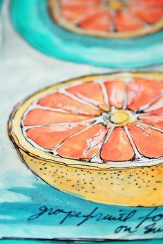 Alisa Burke's grapefruit sketchbook