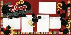Our Disney Adventure Scrapbook Page Kit - LIMITED [ourdisneyadventure12] - $6.99 :: Lotts To Scrap About - Your Online Source for Scrapbook Page Kits!