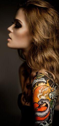 Snake Arm Tattoo lights, snake, arm tattoos, sexy girls tattoo, sleeve tattoos, tattoo ink, smoke, art tattoos, sexy girl tattoo