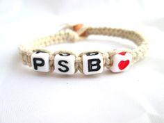 Personalized Initials Bracelets Custom Bracelets For Couples Hemp Bracelets Custom Couples Jewelry