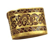 Gold sword fitting with inlaid garnets from the Staffordshire hoard (Birmingham Museum and Art Gallery)