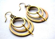 Industrial Chic Hoop EARRINGS RINGLETTES