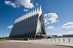 Cadet Chapel of the Air Force Academy – near Colorado Springs, Colorado