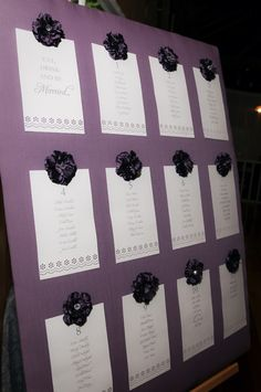 table numbers board