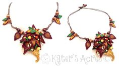 Fall Fantasy Pendant by KatersAcres | Mini tutorial available by clicking the pin & going to the site.