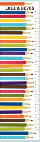 primary colors, petit lemon, growth charts, lemon print, kid