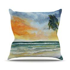 "Rosie Brown ""End of Day"" Beach Throw Pillow from KESS InHouse  #pillow #throwpillow #homedecor #seascape #art #kessinhouse"