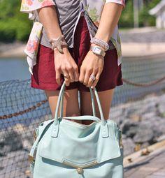 Love the blue bag!