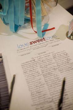 Quaker-style wedding certificate