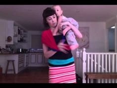 how to make your own baby carrier with 3 tshirts- genius!  - keep calm and carry them! - YouTube no sewing