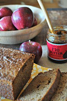 Fall Apple Fig Whole Wheat Bread, www.mountainmamacooks.com