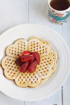 Waffles. Recipe by Rachel Allen