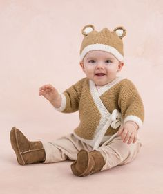 "Knitting - Free Pattern: ""Teddy Sweater and Hat"" - Level: easy."