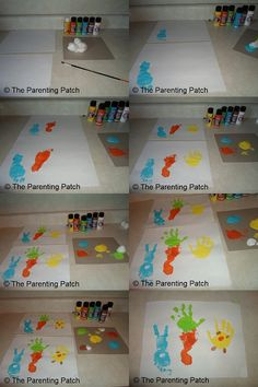 Bunny, Carrot, and Chick Handprint and Footprint Easter Craft for Toddlers