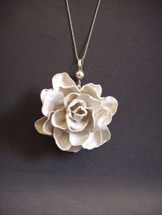 Plastic Spoon Rose Necklace