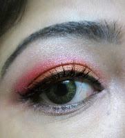Pink and orange eye make up tutorial