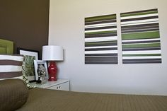 painted striped canvas