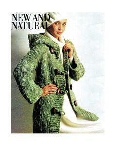Vintage 70s Crochet  Hooded ENGLISH Duffle Coat  by KinsieWoolShop, $3.20 70's crochet pattern, 70s crochet, duffl coat, crochet coat patterns, english duffl, hood english, crochet hood, coat crochet, vintag 70s