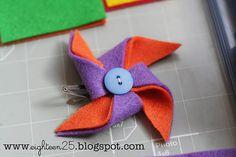 A different pinwheel hair bow