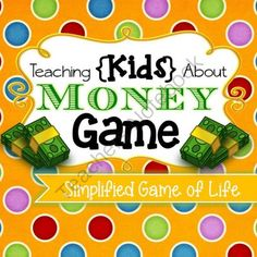 Kids Money Game (Simplified Game of Life) - INSTANT DOWNLOAD from Timesavors on TeachersNotebook.com -  (22 pages)  - An easy and fun way to teach toddlers and kids about paying bills, spending for fun, and saving up for that rainy day. Basically a simplified version of the Game of Life, everything is easy to underst