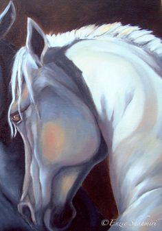 Horse Painting - Arabian Horse Canvas Print 12x16in via Etsy