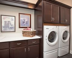 Eclectic Laundry Room Design