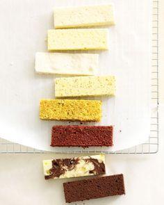 Wedding Cake Recipes: white butter, moist yellow, almond dacquoise, lemon poppy seed, carrot, red velvet, marble and chocolate butter