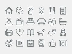 Airbnb Icon Set for Recent Rebranding #icons #pictograms