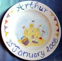birth plates and  bespoke designs to commemorate special events