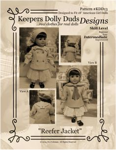 1900 Reefer Coat Pattern From Keepers Dolly Duds Designs!