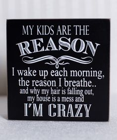 Love this 'My Kids Are' Box Sign on #zulily! #zulilyfinds
