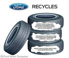 sustain materi, help increas, ride green, recycled tires, recycl tire, engin gasket, soy oil