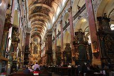 Inside Church of St. James, Prague
