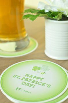 DIY St. Patrick's Day Coasters