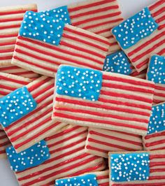 Stars & Stripes Spritz Cookies! #Flag #Day @Wilton Cake Decorating