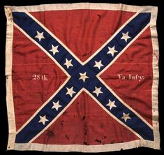 The Army of Northern Virginia Confederate battle flag of the 28th Virginia Volunteer Infantry Regiment. The flag was captured by Private Marshall Sherman of Saint Paul, Minnesota, while serving with the 1st Minnesota Volunteer Infantry Regiment, Company C, during Pickett's Charge at the Battle of Gettysburg on July 3, 1863. Private Sherman was awarded the Congressional Medal of Honor for his gallantry at Gettysburg..